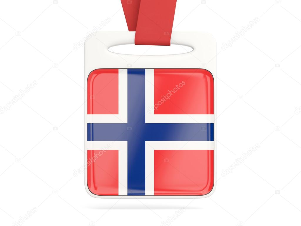 Flag of norway, square card