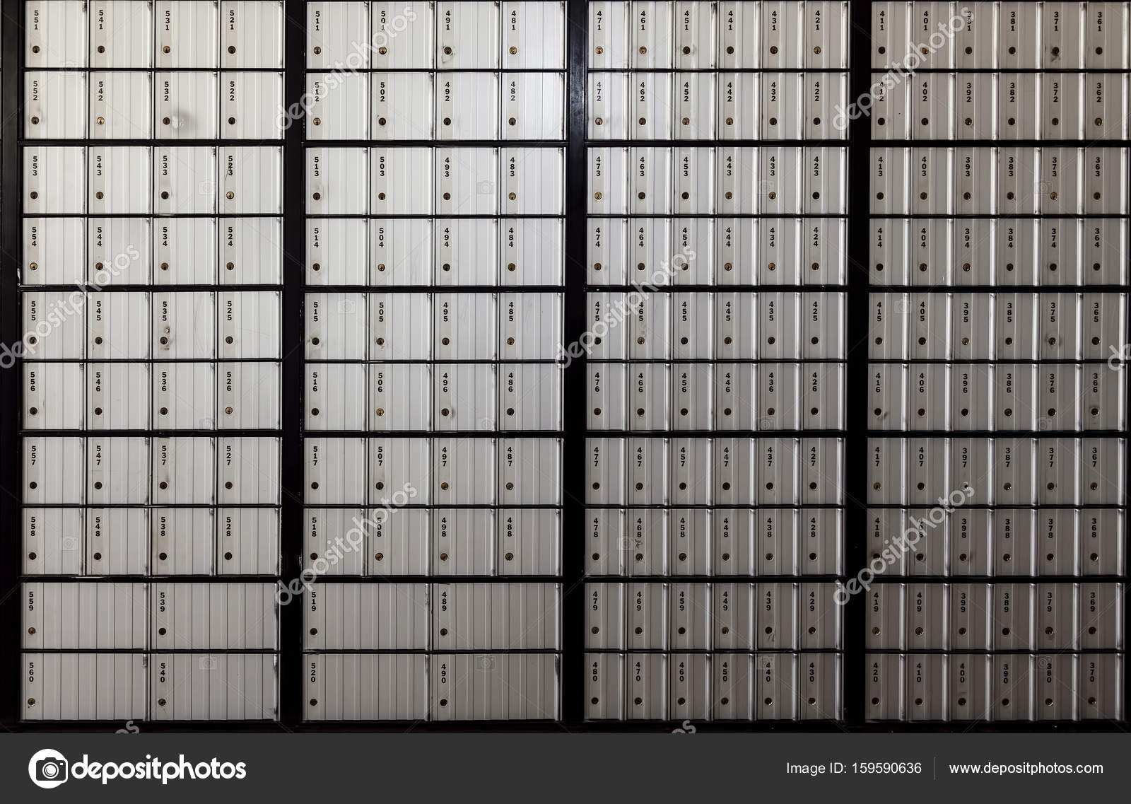 Wall Of United States Post Office Boxes Stock Photo Jeffwqc