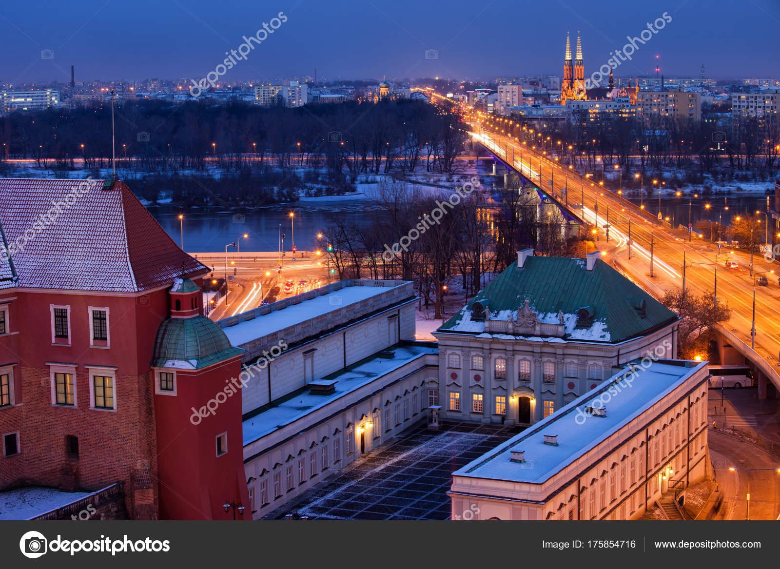 Imágenes Paisajes De Noche Reales Paisaje Urbano De Varsovia Por