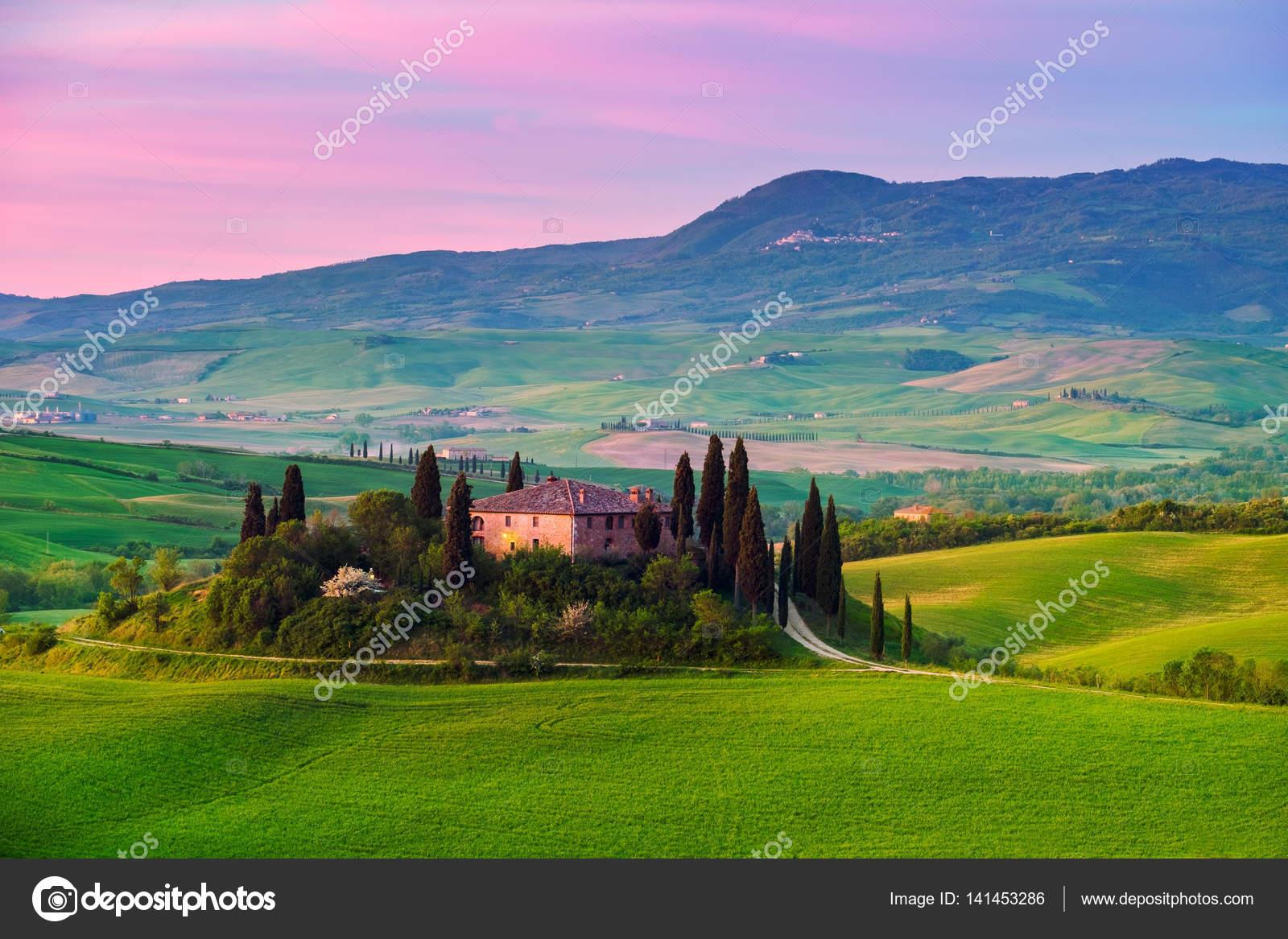Tuscany Italian Landscape Stock Editorial Photo C Kavita 141453286