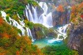 Vodopády, národní Park Plitvická jezera, Chorvatsko