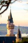 Fotografie schöner Blick auf das Schloss Neuschwanstein im Herbst