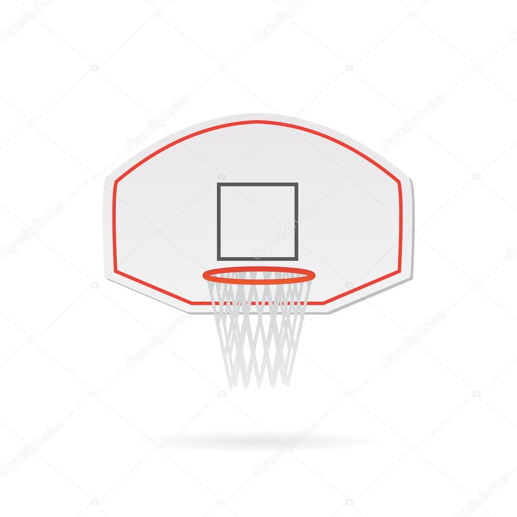 Basketball Hoop Illustration — Stockvektor © nmarques74 #126260718