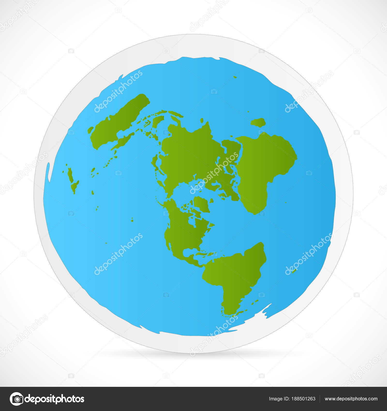 Flat earth illustration stock vector nmarques74 188501263 illustration of an azimuth projection flat world map vector by nmarques74 gumiabroncs Gallery