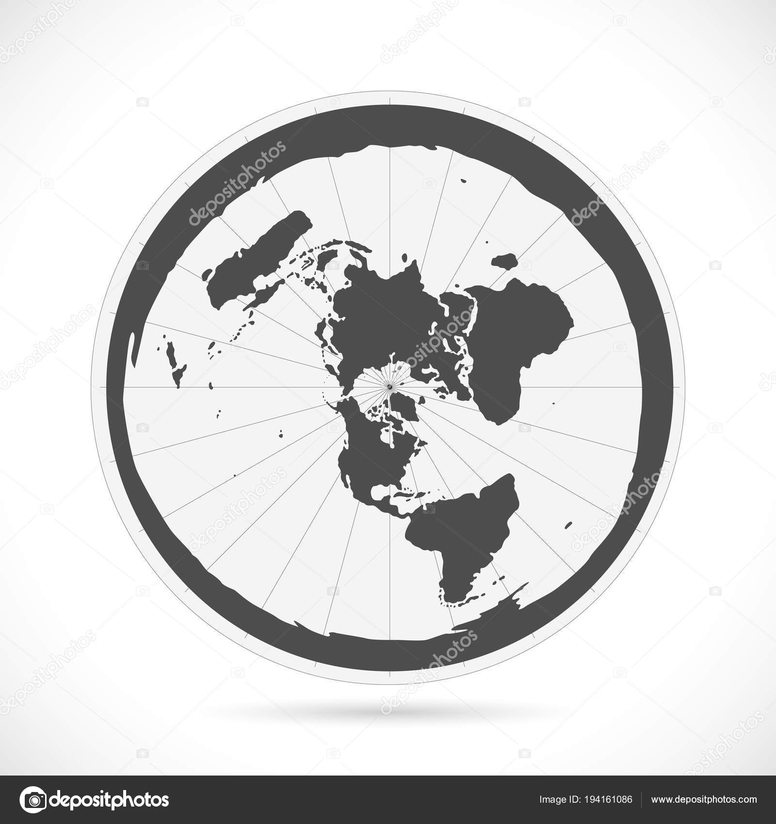 Flat Earth Map Illustration — Stock Vector © nmarques74 #194161086