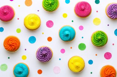 Colorful cupcake background