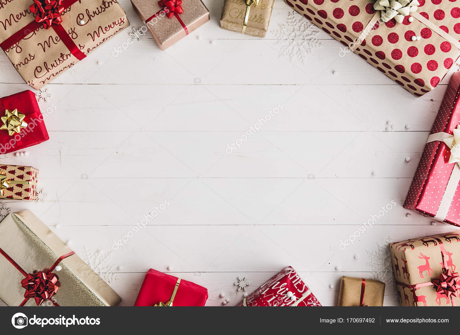 Gift Wrapped Christmas Presents Stock Photo C Ruthblack 170697492