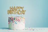 Születésnapi torta boldog születésnapot banner