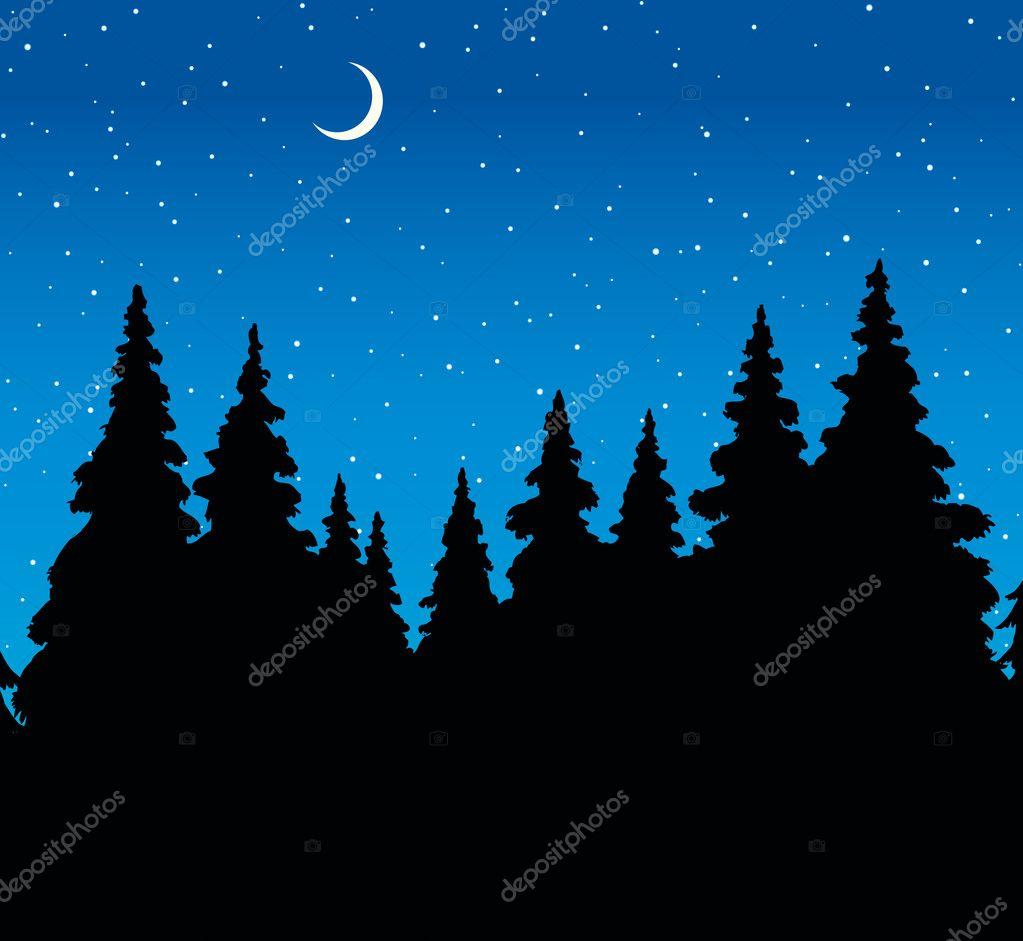 Рисунок векторный лес