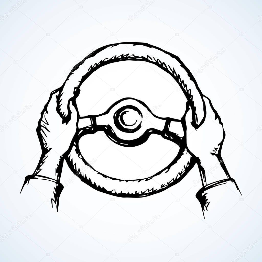 M os segurando a roda desenho vetorial vetores de stock - Dessin volant ...