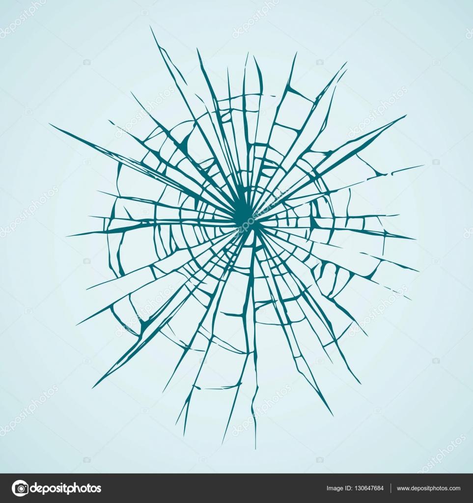 Broken glass. Vector drawing — Stock Vector © Marinka ...