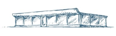 Shop. Vector drawing