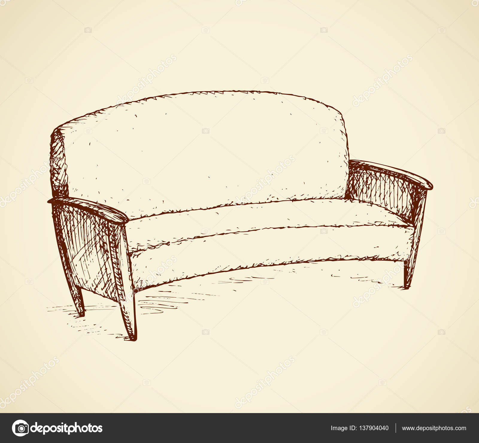 Fine Vector Sofa Drawing Sofa Vector Drawing Stock Vector Pdpeps Interior Chair Design Pdpepsorg