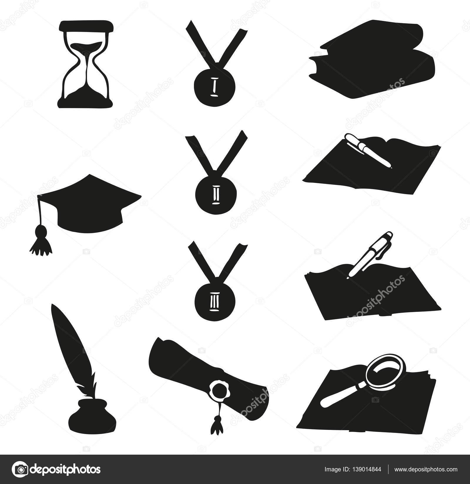 Vector Graphic Symbols Of Education Stock Vector Marinka 139014844