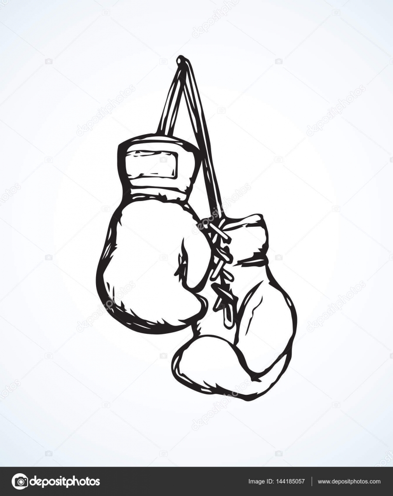 Boxing gloves drawing