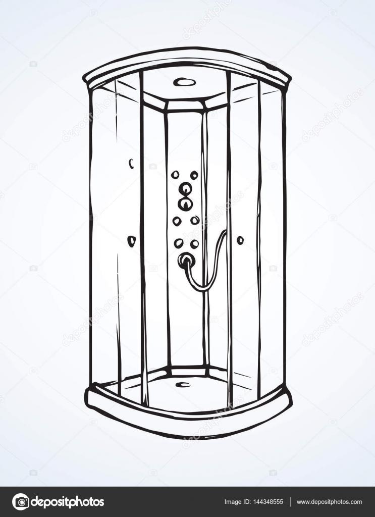 cabine de douche dessin vectoriel image vectorielle marinka 144348555. Black Bedroom Furniture Sets. Home Design Ideas