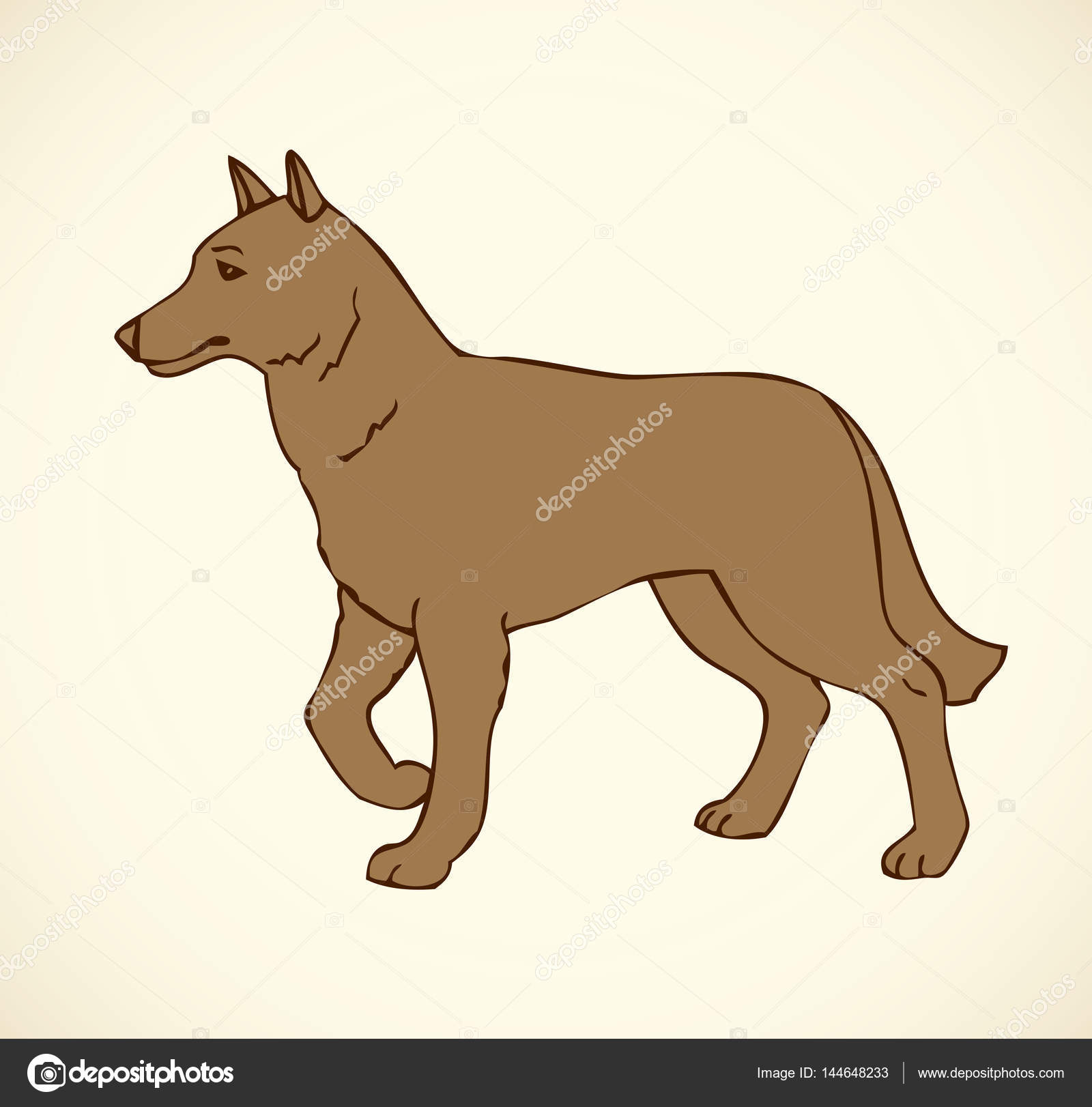 Purebred Dogs And Mongrels U2014 Stock Vector