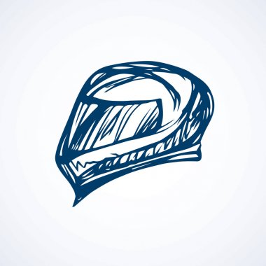 Motorcycle helmet. Vector drawing