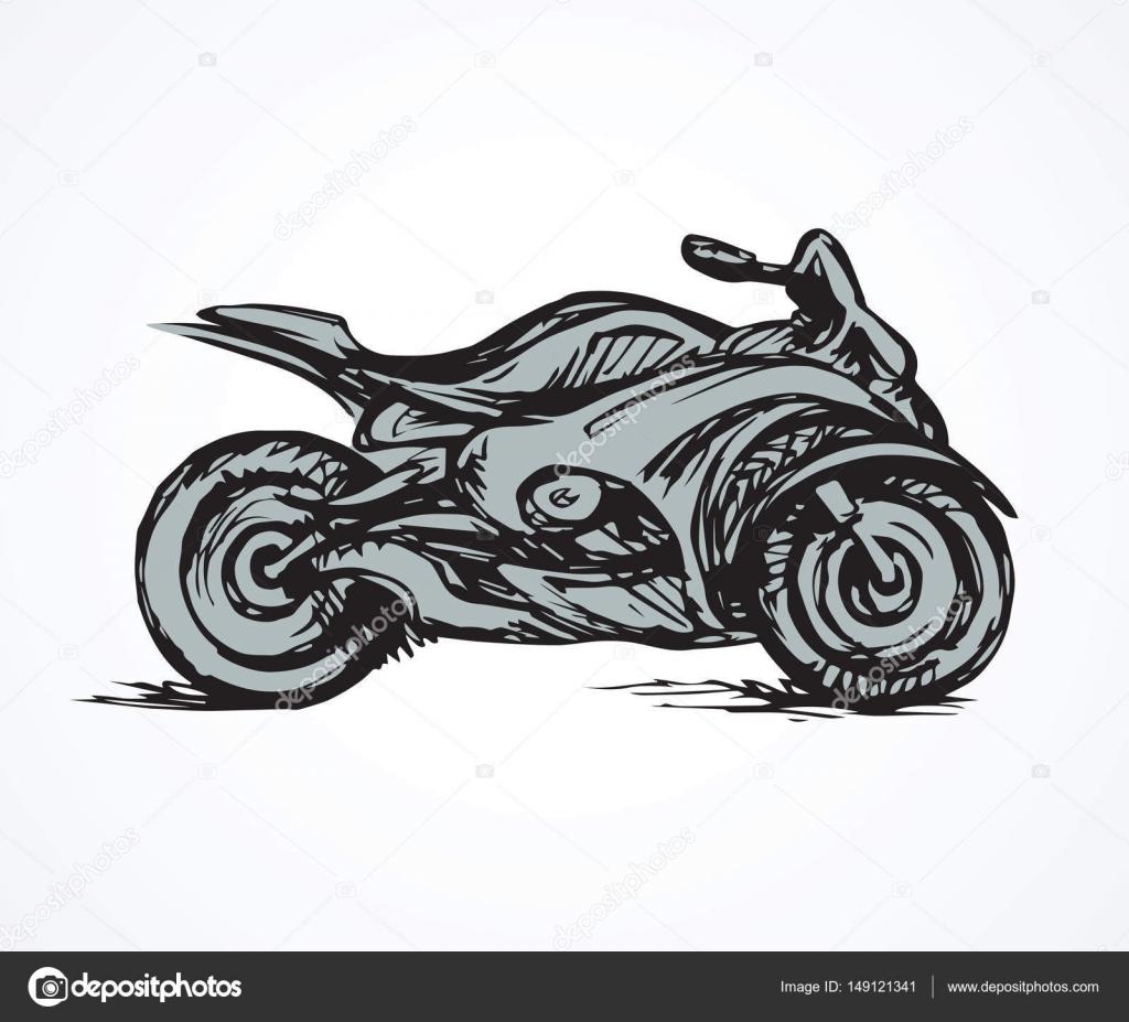 Dibujos Motocross A Lapiz Motos Dibujo Vectorial Vector De