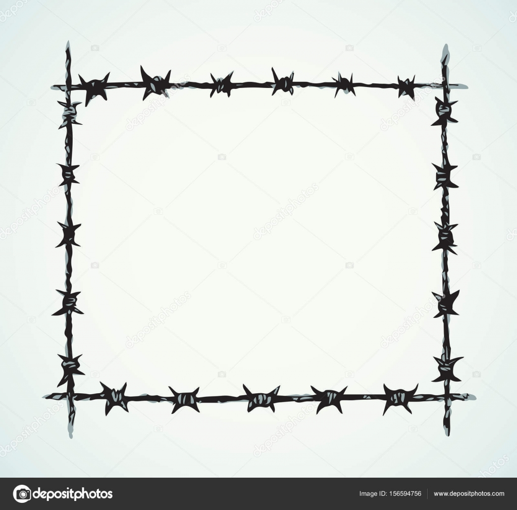 Barbed wire. Vector drawing — Stock Vector © Marinka #156594756