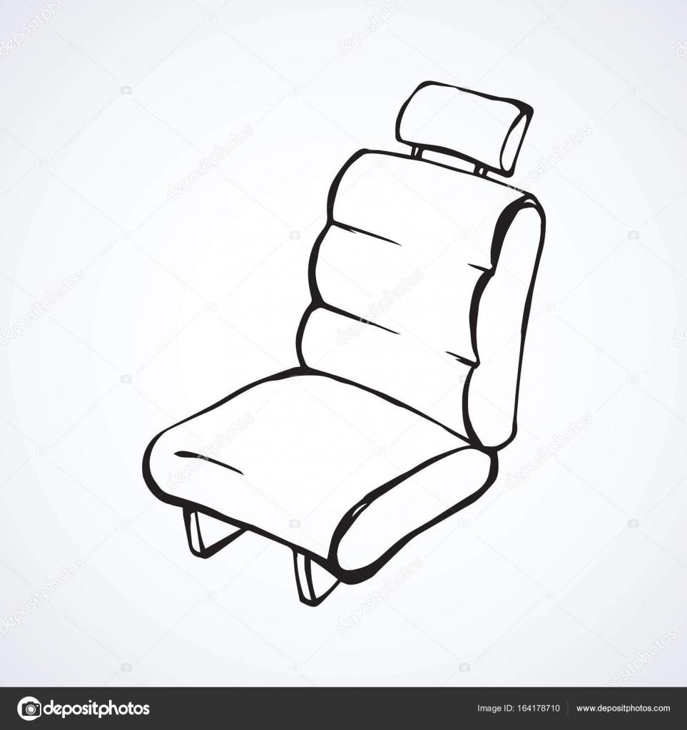 Asiento para el coche. Dibujo vectorial — Archivo Imágenes ...