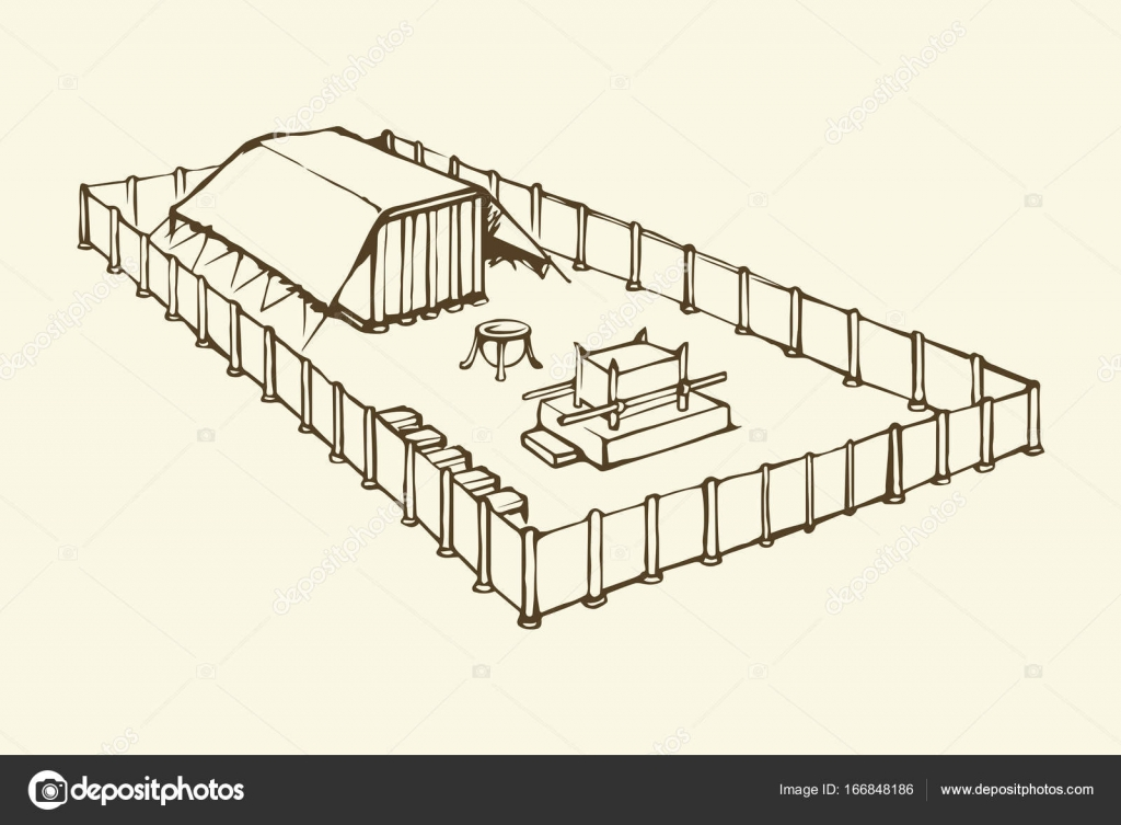 Tabernáculo De Moisés Dibujo Vectorial Archivo Imágenes