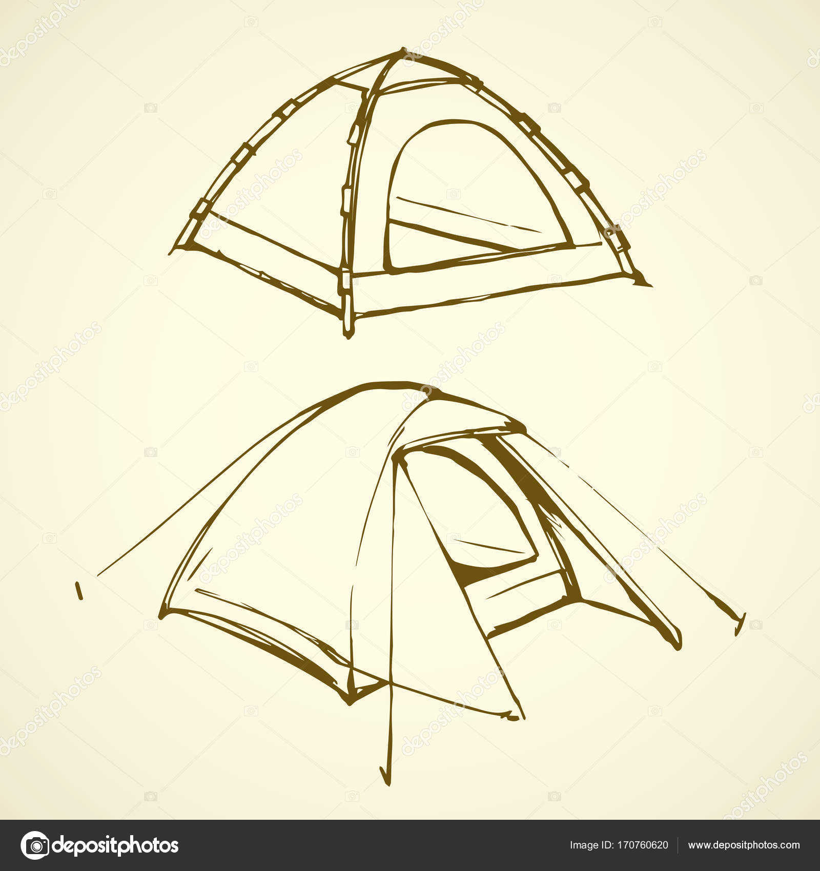 Tent. Vector drawing u2014 Stock Vector  sc 1 st  Depositphotos & Tent. Vector drawing u2014 Stock Vector © Marinka #170760620