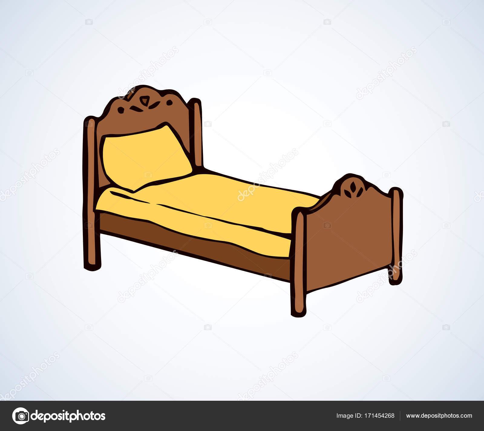 bed vector tekening stockvector marinka 171454268. Black Bedroom Furniture Sets. Home Design Ideas