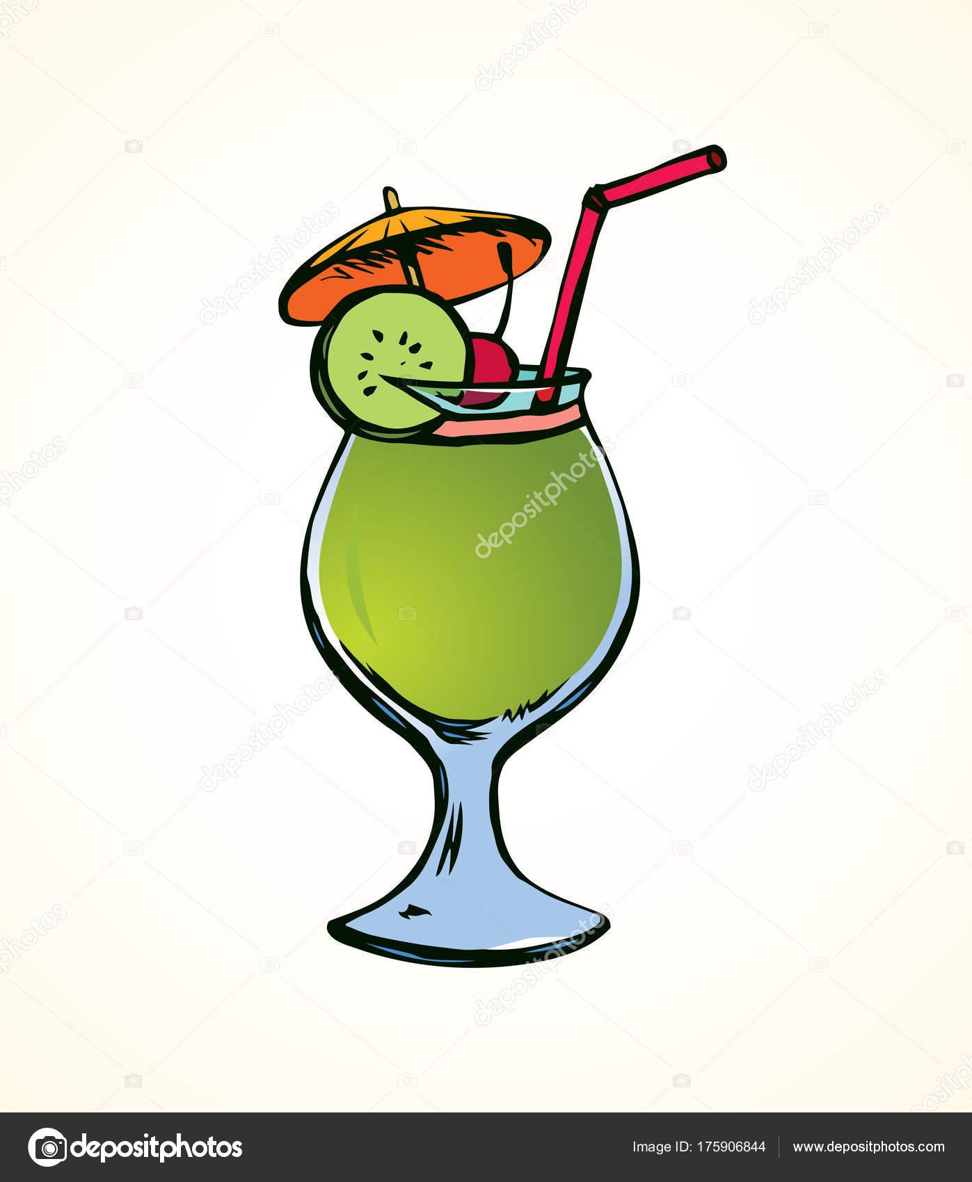 Cocktail vector tekening stockvector marinka 175906844 - Dessin cocktail ...