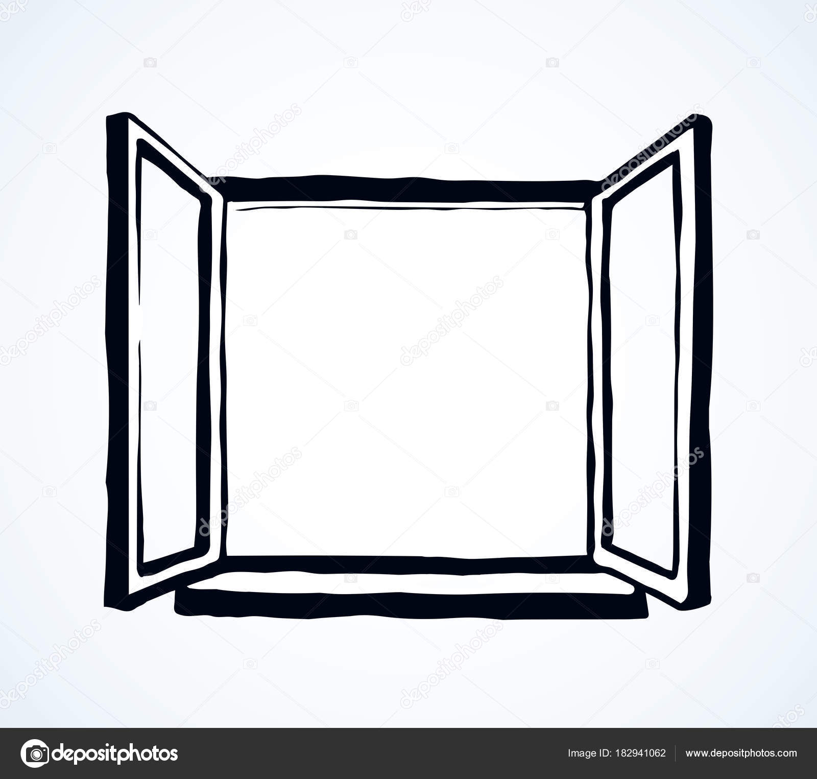window frame coloring pages - photo#17