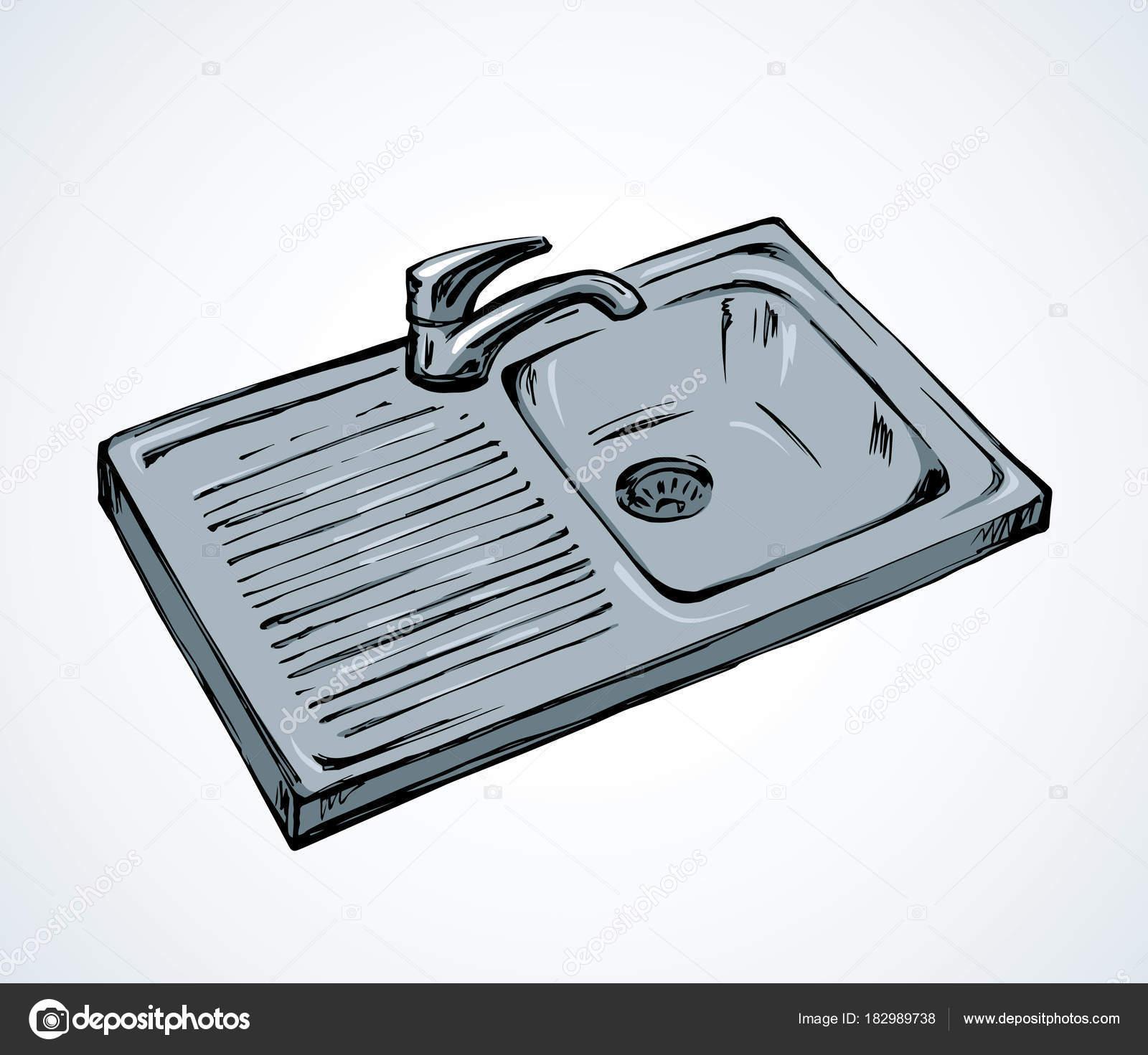 Küchenspüle. Vektor-Zeichenprogramm — Stockvektor © Marinka #182989738