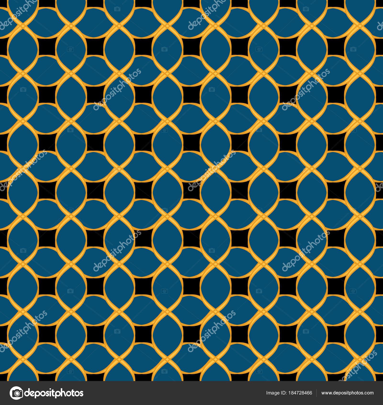 Black vector seamless wavy line pattern — Stock Vector © Marinka