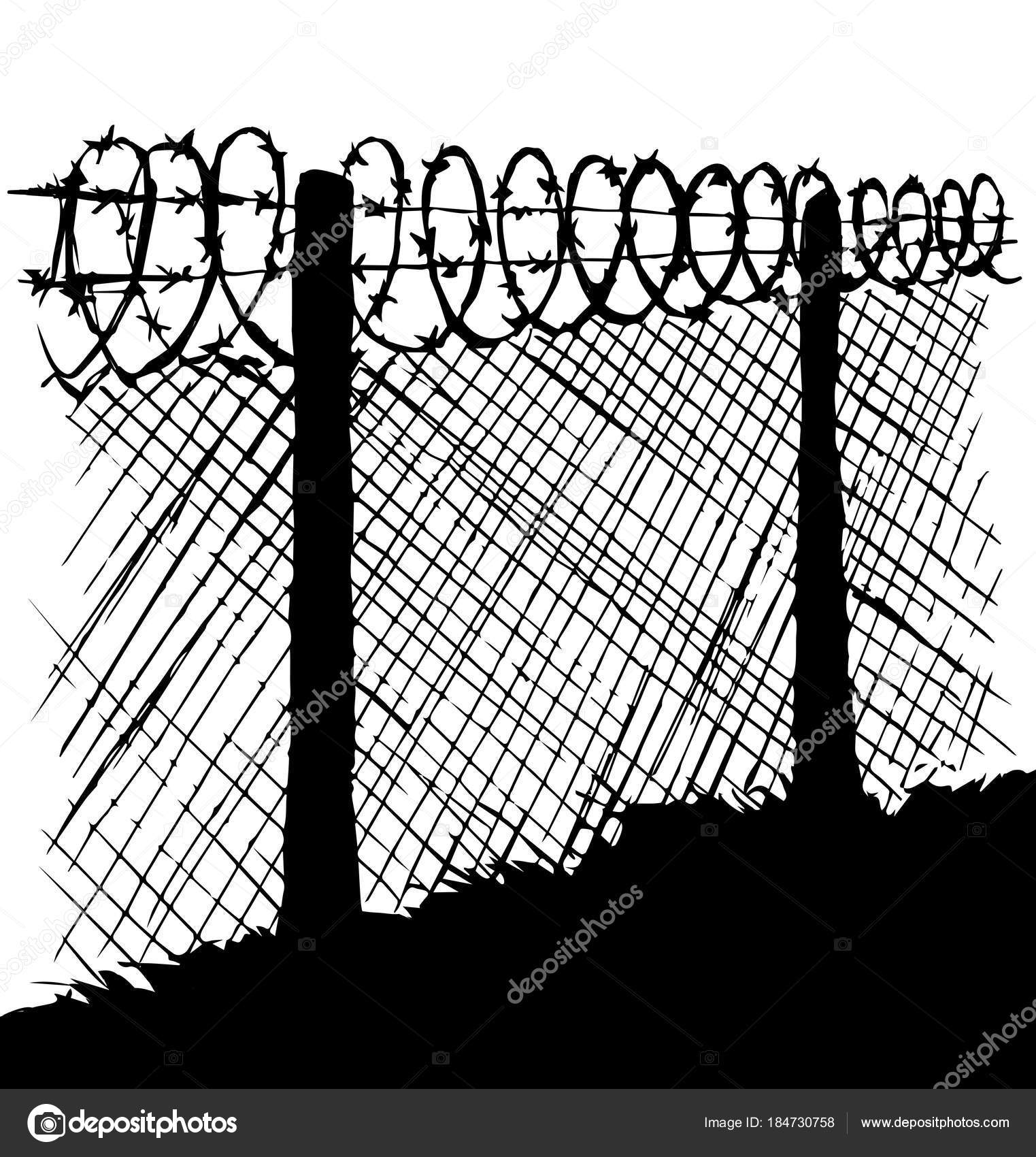 Barbed wire. Vector drawing — Stock Vector © Marinka #184730758