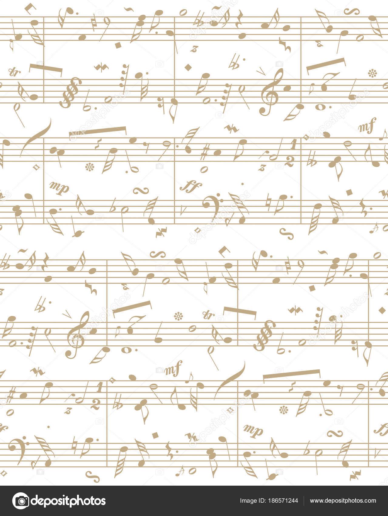 Partitura piano de vector — Archivo Imágenes Vectoriales © Marinka ...
