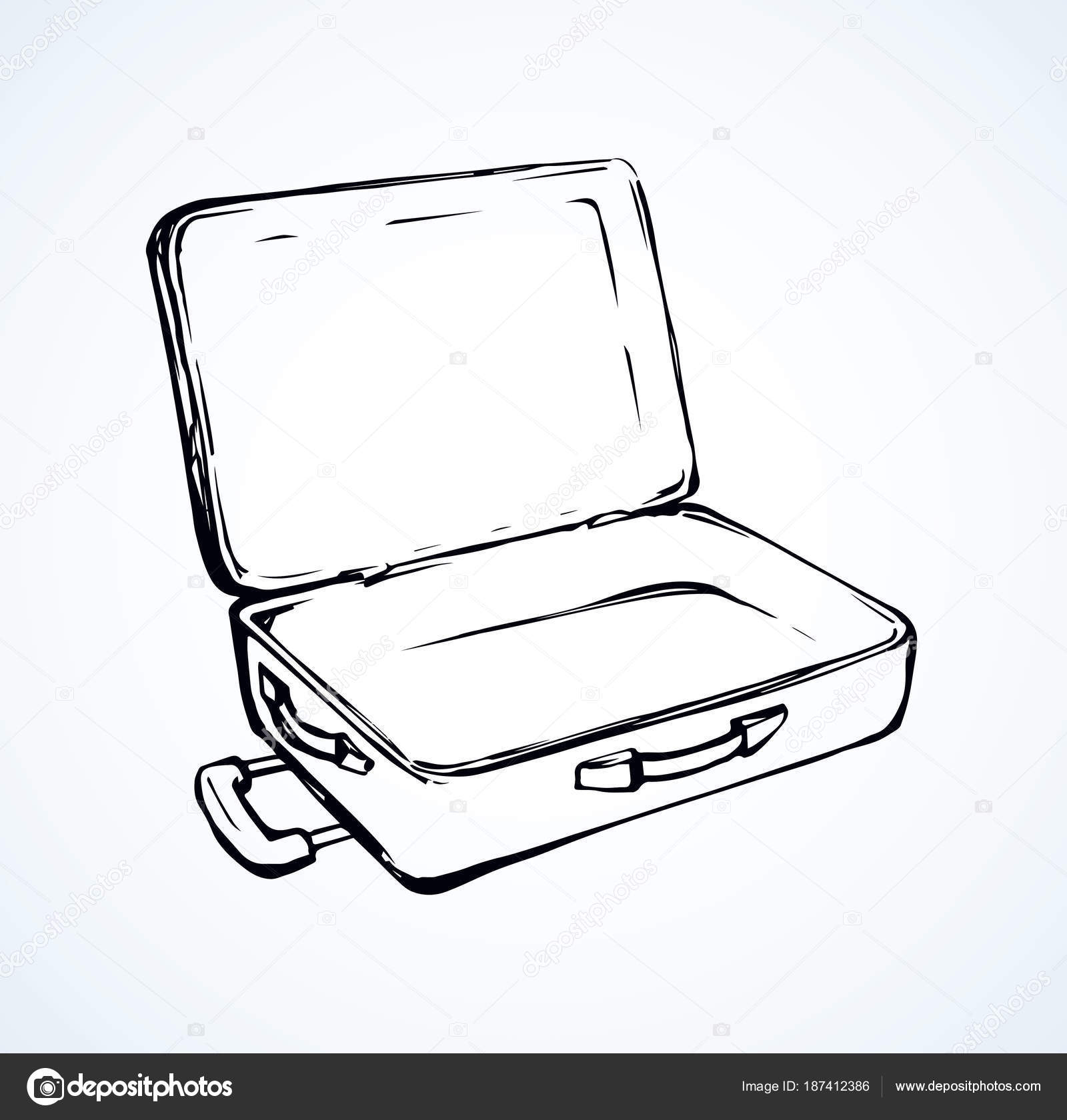 Drawing suitcase