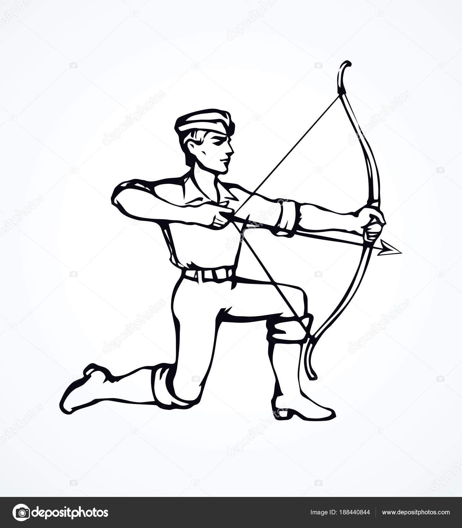 Archer  Vector drawing — Stock Vector © Marinka #188440844