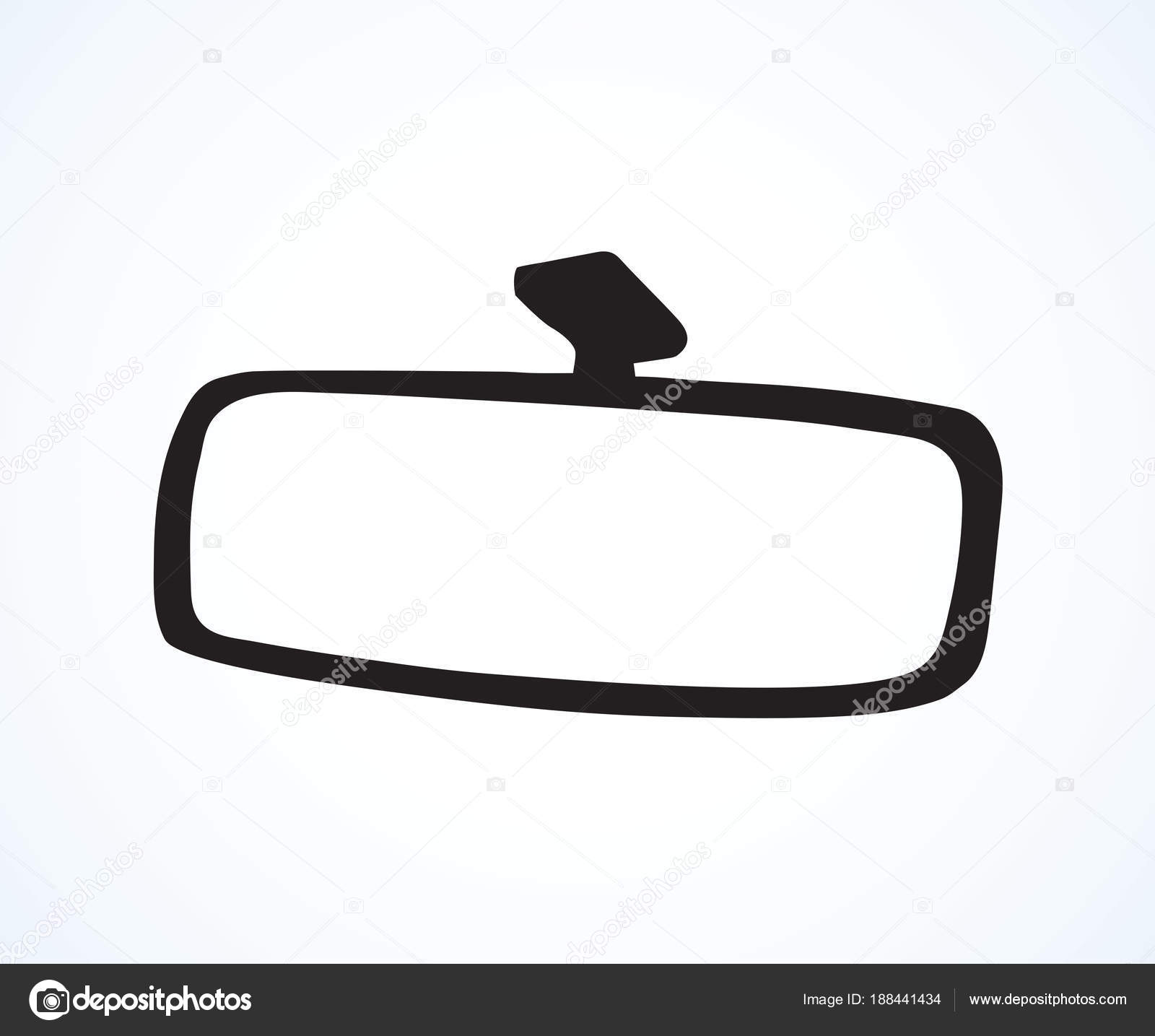 Car Mirror Vector Drawing Stock Vector C Marinka 188441434