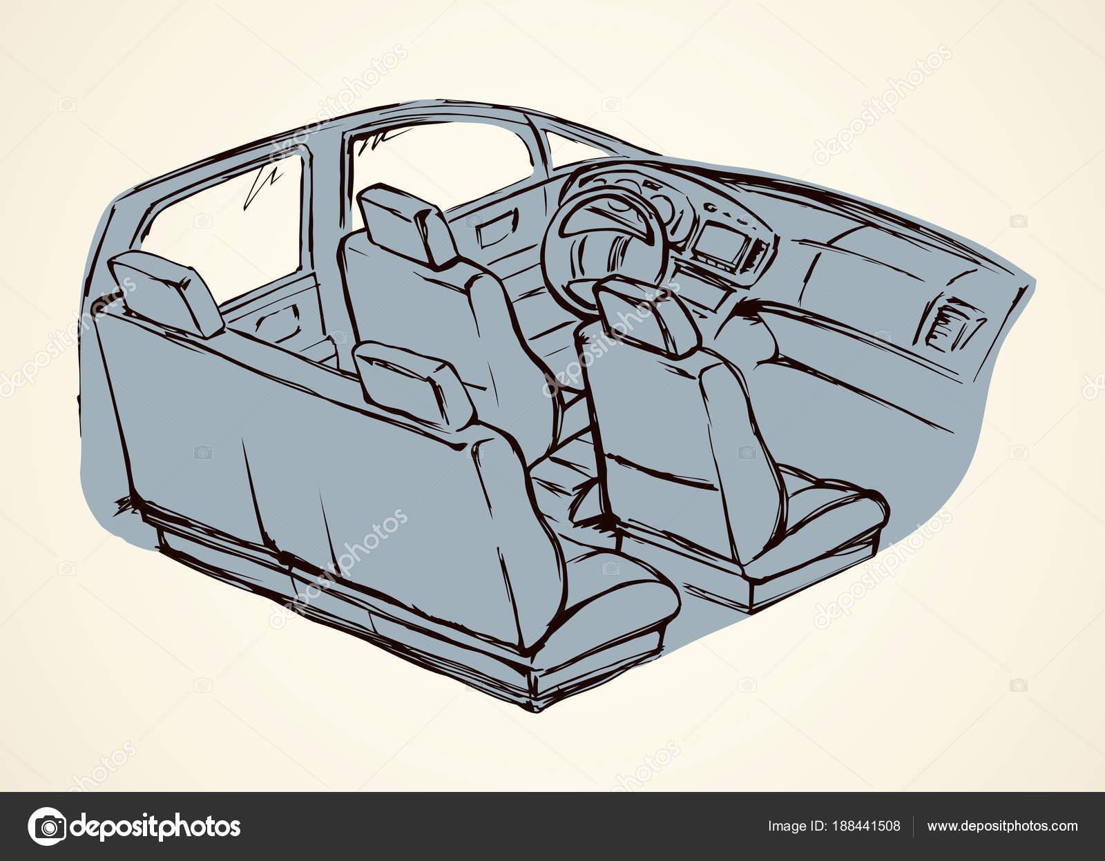 Interior of the car. Vector drawing — Stock Vector © Marinka #188441508