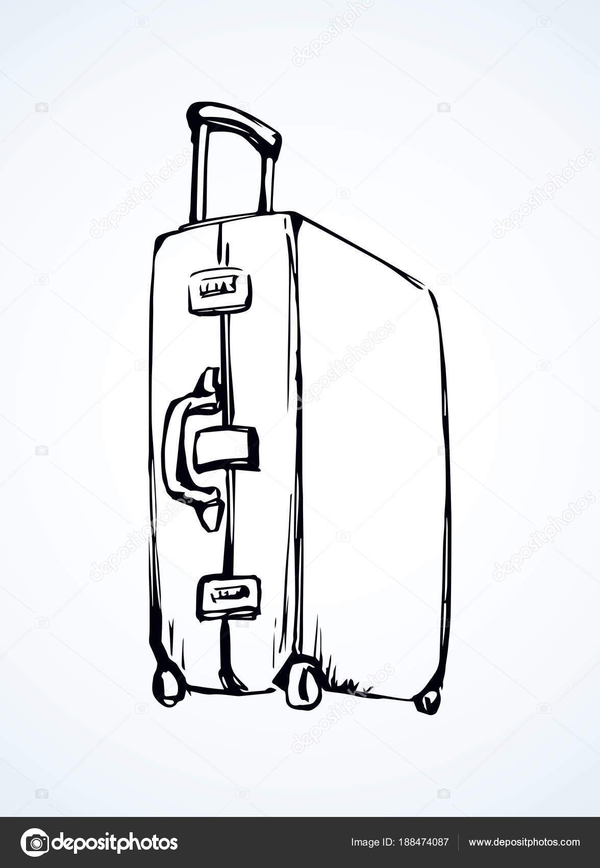 Maleta dibujo vectorial archivo im genes vectoriales - Dessin de valise ...