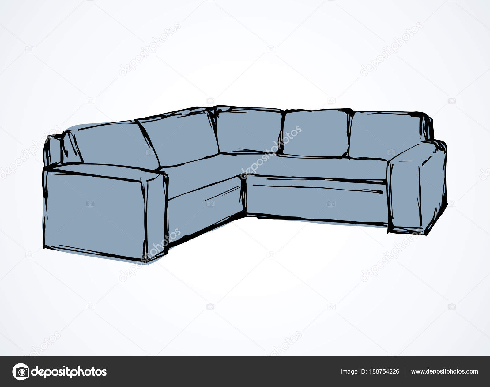 canapé. dessin vectoriel — image vectorielle marinka © #188754226