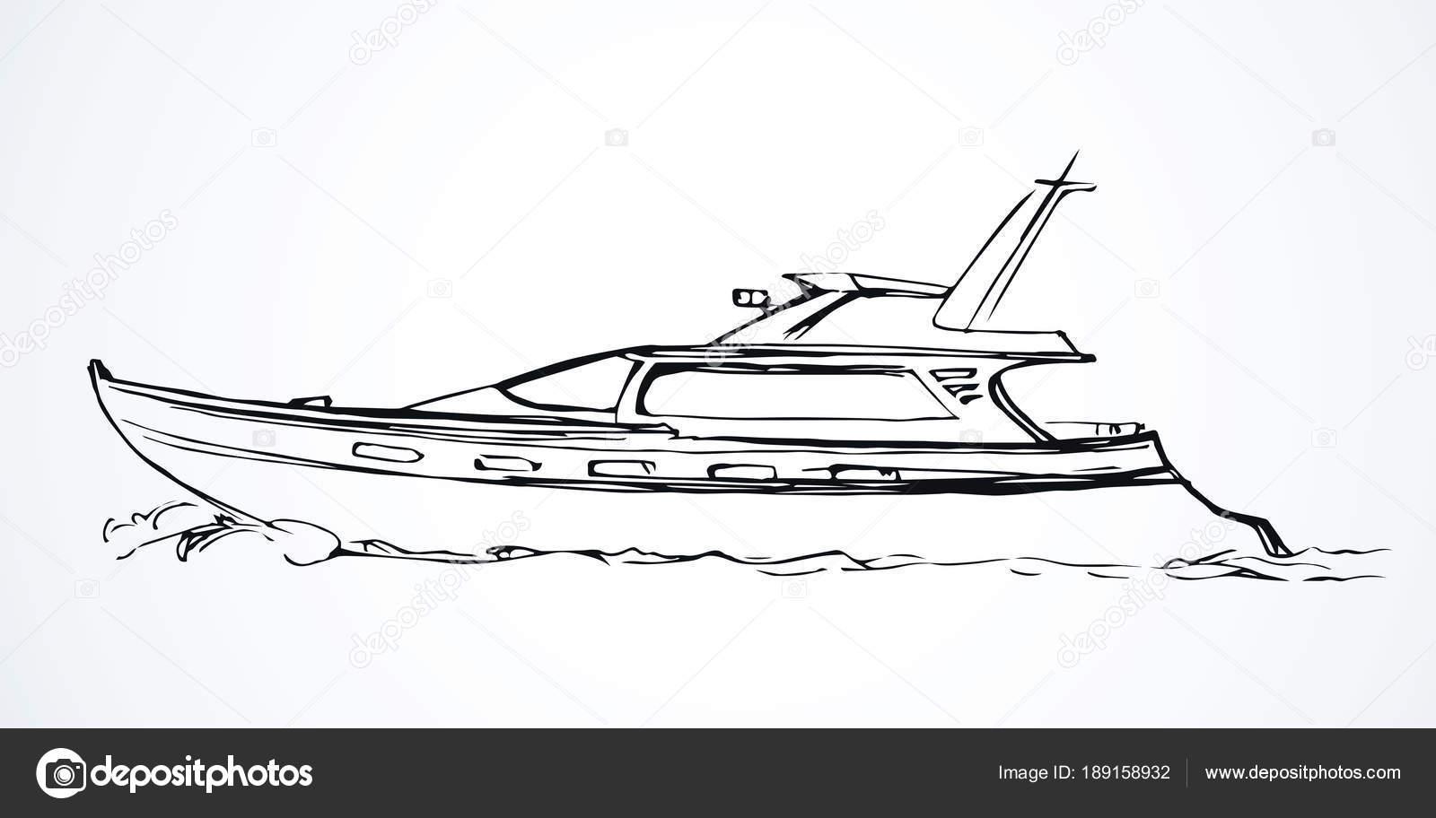yacht  dessin vectoriel  u2014 image vectorielle marinka  u00a9  189158932