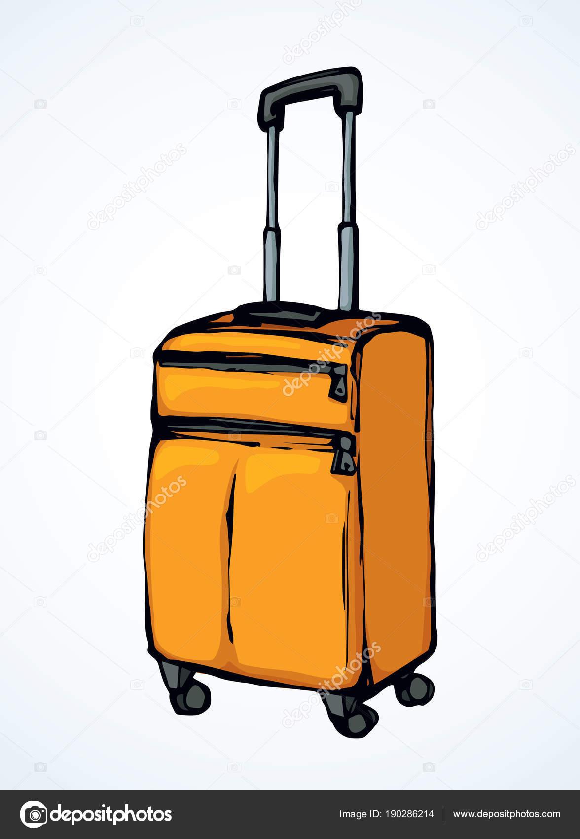 Suitcase Vector Drawing Stock Vector C Marinka 190286214