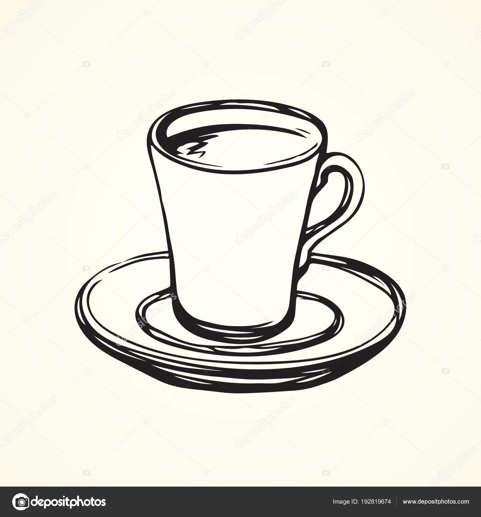 Tasse de caf dessin vectoriel image vectorielle marinka 192819674 - Tasse de cafe dessin ...