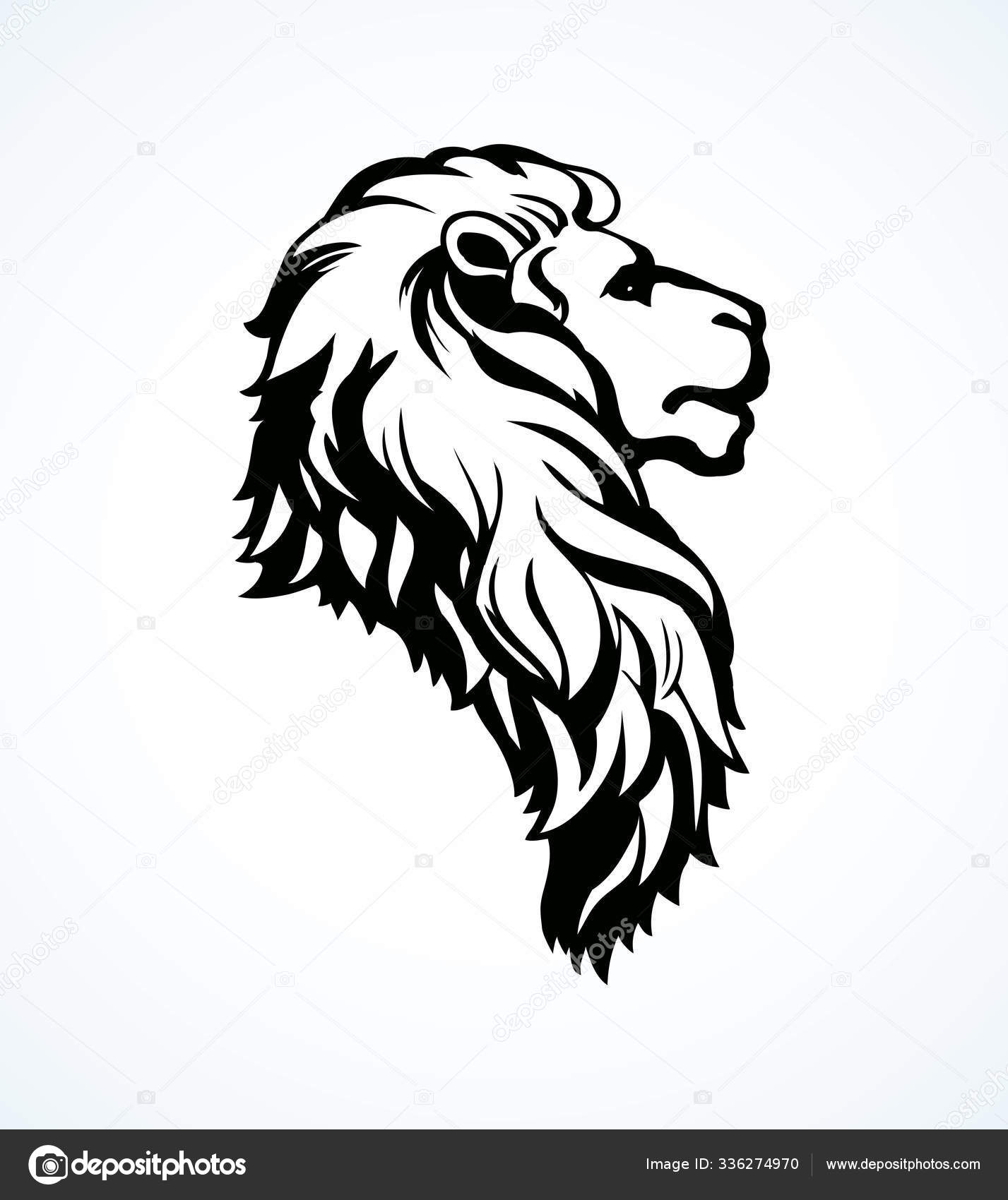 Lion Vector Drawing Stock Vector C Marinka 336274970 Detroit's first playoff game in the super bowl era came. depositphotos