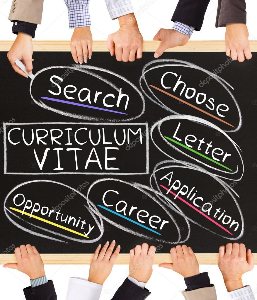 Palabras de concepto de Curriculum Vitae — Foto de stock © etiamos ...