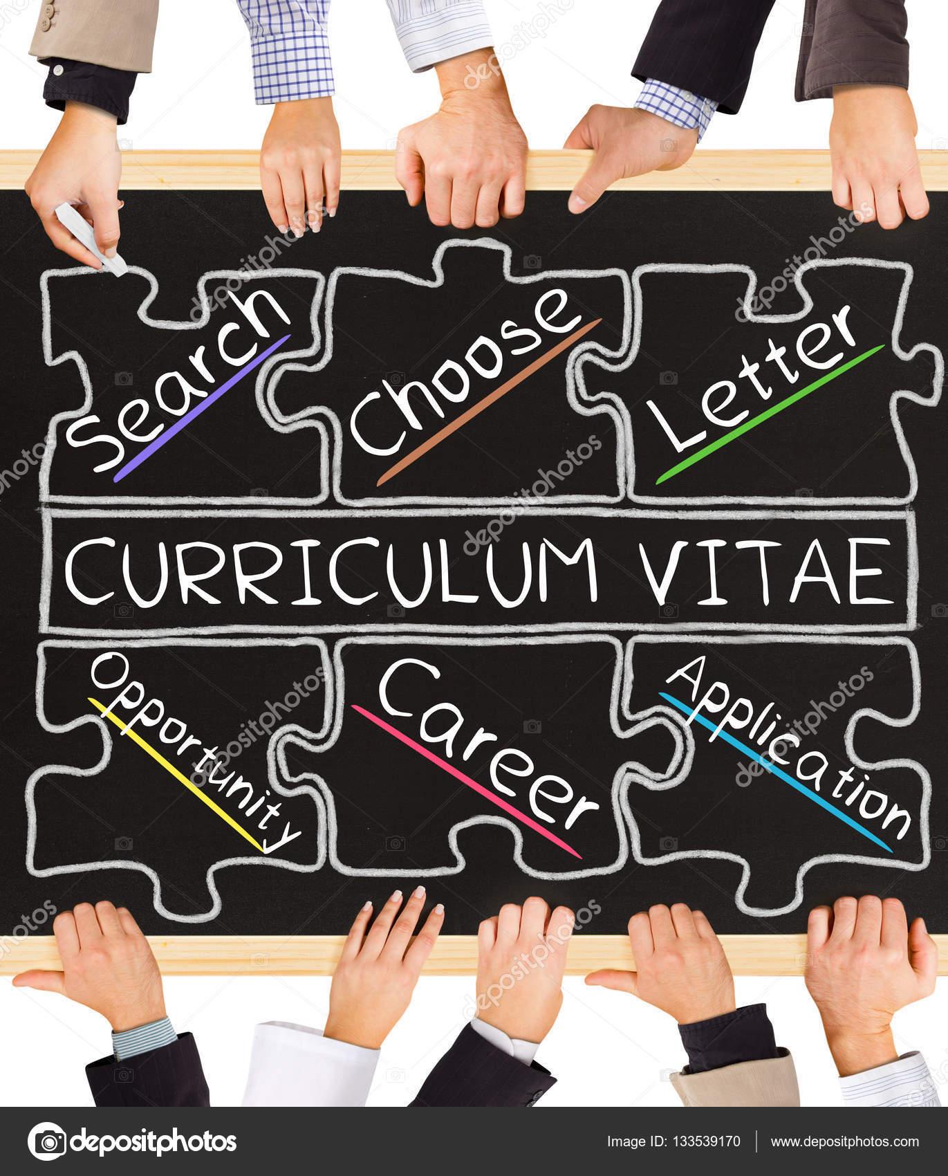 Palabras de concepto de Curriculum Vitae — Fotos de Stock © etiamos ...