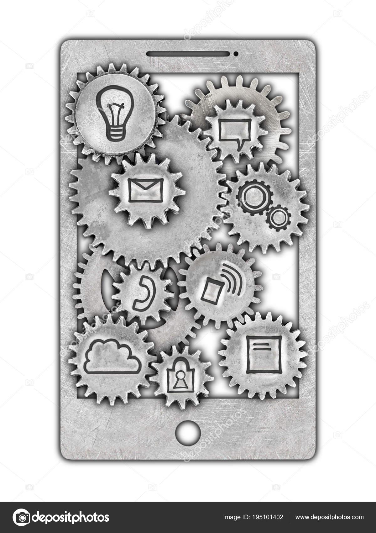 Мобильный телефон с знак такси и колеса, такси app — стоковое фото.