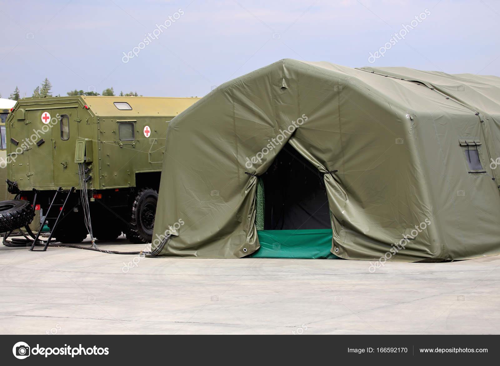 Tenda Da Campo.Tenda Di Ospedale Mobile Da Campo Foto Stock