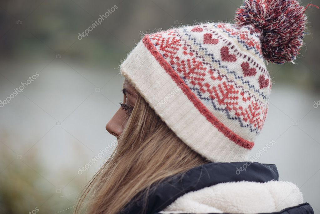Close up woolen hat