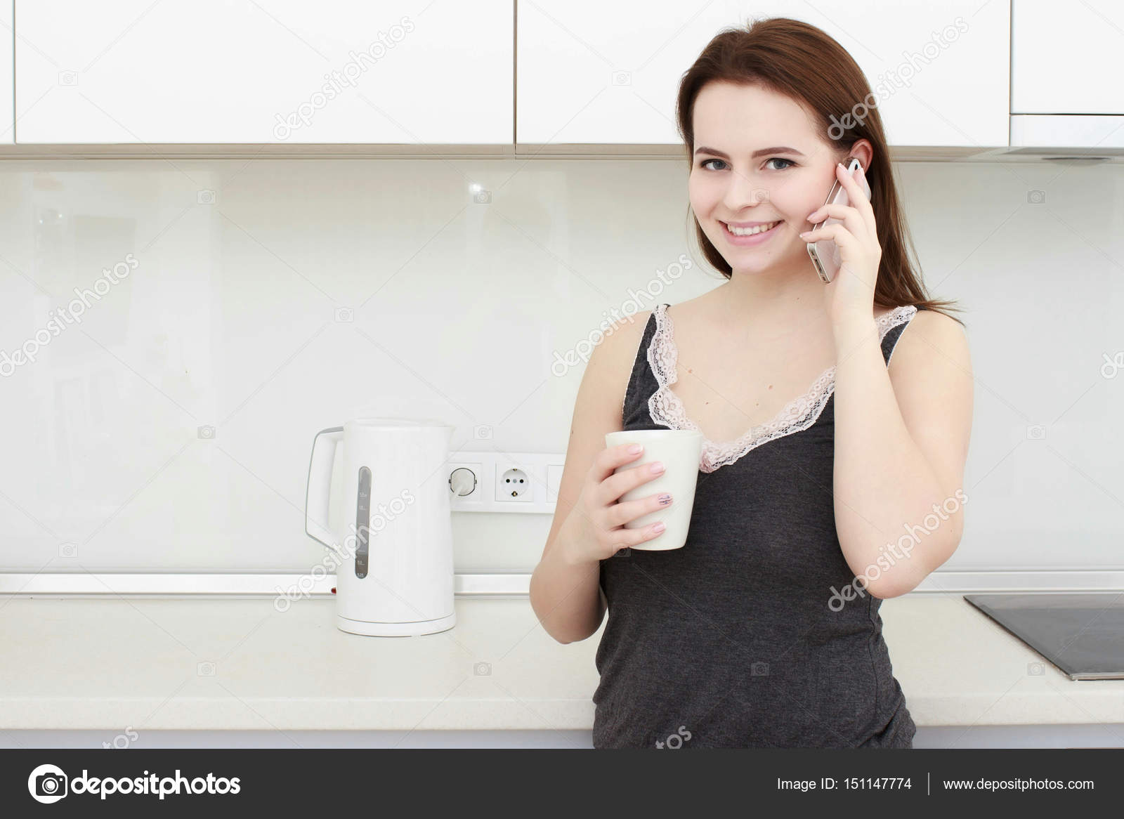 Brunette housewife